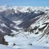 depuis le col Tronchet (2661m), vue vers Ceillac et le massif des Ecrins