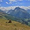 Vue sur le Val d'Hérens, en descendant du col de Torrent
