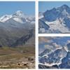 A gauche : Bishorn (4153m) et Weisshorn (4505m) - A droite : Weisshorn (en haut) et Zinalrothorn (en bas, 4221m)